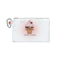 Stay Cool Canvas Cosmetic Bag (small) by ZephyyrDesigns