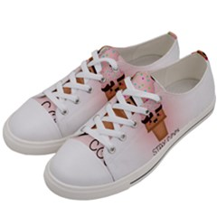 Stay Cool Women s Low Top Canvas Sneakers by ZephyyrDesigns