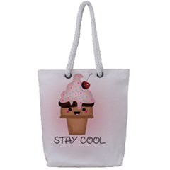 Stay Cool Full Print Rope Handle Tote (small) by ZephyyrDesigns
