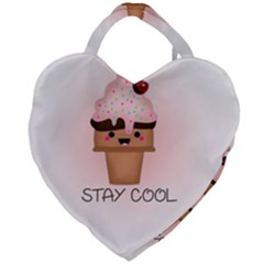 Stay Cool Giant Heart Shaped Tote by ZephyyrDesigns