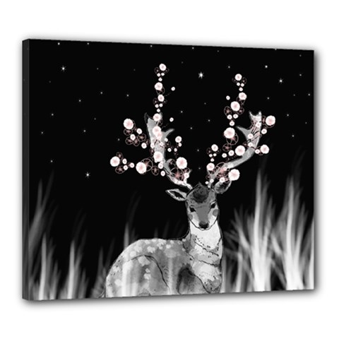 Deer Canvas 24  X 20  by ZephyyrDesigns