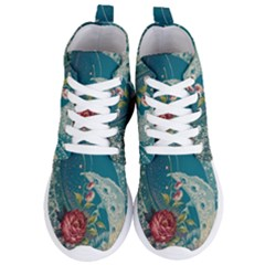 Rich Pattern Flower Women s Lightweight High Top Sneakers by goodart