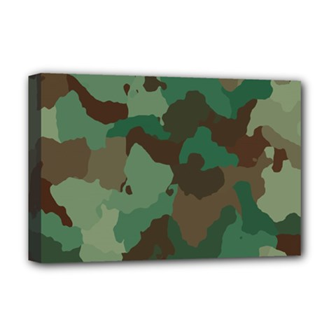 Camouflage Pattern Deluxe Canvas 18  X 12