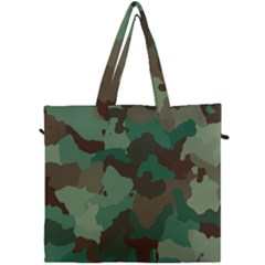 Camouflage Pattern Canvas Travel Bag by goodart