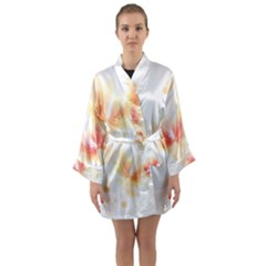 Flower Color Pink Long Sleeve Kimono Robe by goodart