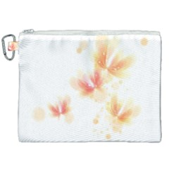 Flower Color Pink Canvas Cosmetic Bag (xxl) by goodart