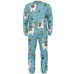Lama And Cactus Pattern Onepiece Jumpsuit (men)