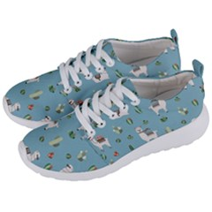 Lama And Cactus Pattern Men s Lightweight Sports Shoes by Valentinaart