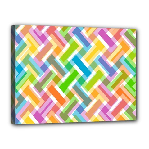 Cool Abstract Pattern Colorful Canvas 16  X 12  by goodart