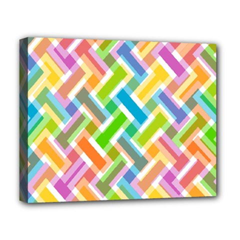 Cool Abstract Pattern Colorful Deluxe Canvas 20  X 16   by goodart