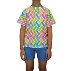 Cool Abstract Pattern Colorful Kids  Short Sleeve Swimwear by goodart
