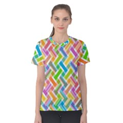 Cool Abstract Pattern Colorful Women s Cotton Tee by goodart