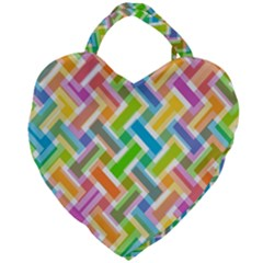 Cool Abstract Pattern Colorful Giant Heart Shaped Tote by goodart