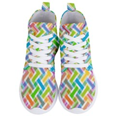 Cool Abstract Pattern Colorful Women s Lightweight High Top Sneakers by goodart