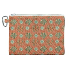 Fabric Texture Flower Canvas Cosmetic Bag (xl) by goodart