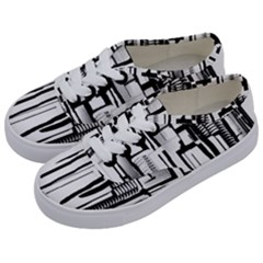 Black And White City Kids  Classic Low Top Sneakers by digitaldivadesigns