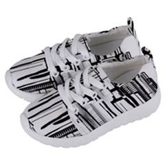 Black And White City Kids  Lightweight Sports Shoes by digitaldivadesigns