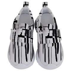 Black And White City Velcro Strap Shoes