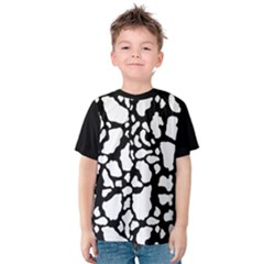 Black White Cow Print Kids  Cotton Tee