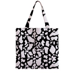 Black White Cow Print Grocery Tote Bag