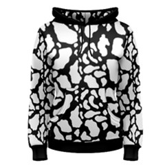 Black White Cow Print Women s Pullover Hoodie
