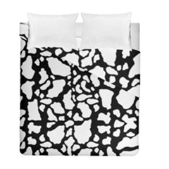 White On Black Cow Skin Duvet Cover Double Side (full/ Double Size) by LoolyElzayat