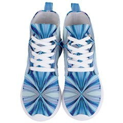 Abstract Blue Women s Lightweight High Top Sneakers