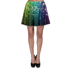 Colorful Space Rainbow Stars Skater Skirt