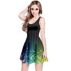 Colorful Space Rainbow Stars Reversible Sleeveless Dress