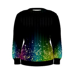 Colorful Space Rainbow Stars Women s Sweatshirt