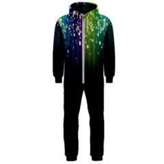 Colorful Space Rainbow Stars Hooded Jumpsuit (men)
