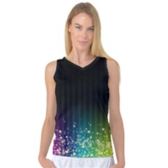 Colorful Space Rainbow Stars Women s Basketball Tank Top