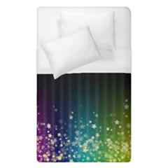 Colorful Space Rainbow Stars Duvet Cover (single Size) by LoolyElzayat