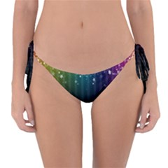 Colorful Space Rainbow Stars Reversible Bikini Bottom