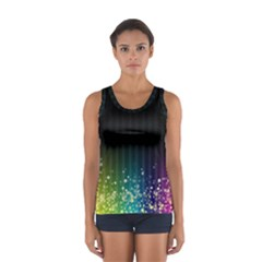 Colorful Space Rainbow Stars Sport Tank Top