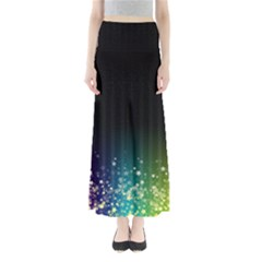 Colorful Space Rainbow Stars Full Length Maxi Skirt