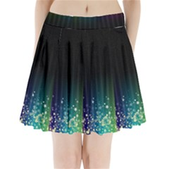 Colorful Space Rainbow Stars Pleated Mini Skirt