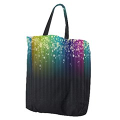 Colorful Space Rainbow Stars Giant Grocery Zipper Tote