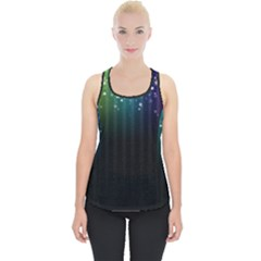 Colorful Space Rainbow Stars Piece Up Tank Top