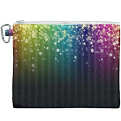 Colorful Space Rainbow Stars Canvas Cosmetic Bag (xxxl)