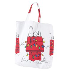 Peanuts Snoopy Giant Grocery Zipper Tote