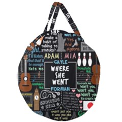 Book Quote Collage Giant Round Zipper Tote by Samandel