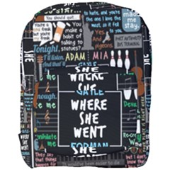 Book Quote Collage Full Print Backpack by Samandel