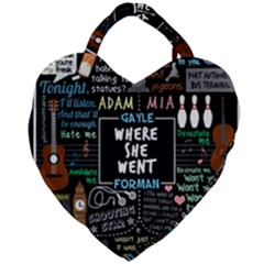 Book Quote Collage Giant Heart Shaped Tote by Samandel