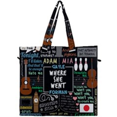 Book Quote Collage Canvas Travel Bag by Samandel