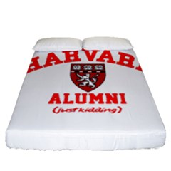 Harvard Alumni Just Kidding Fitted Sheet (queen Size) by Samandel