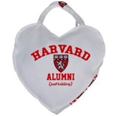 Harvard Alumni Just Kidding Giant Heart Shaped Tote by Samandel