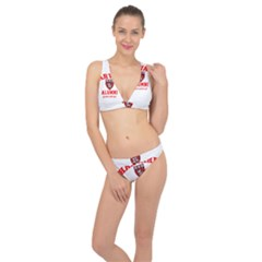 Harvard Alumni Just Kidding Classic Banded Bikini Set  by Samandel