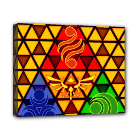 The Triforce Stained Glass Canvas 10  X 8  by Samandel