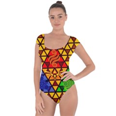 The Triforce Stained Glass Short Sleeve Leotard
